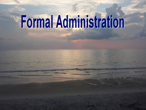 Formal Administration