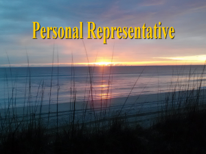 Florida Personal Representative │ Video