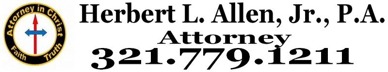 Herbert L. Allen, Jr., P.A., Probate Attorney, helps people with probate matters in Florida. If you have Florida property and need the title transferred after death, then please call 321.779.1211. I have experience with title transfers to Florida property.